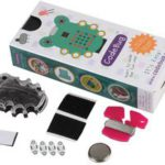 CodeBug Wearable Kit with Black Case, Conductive Thread & Sewable LEDs